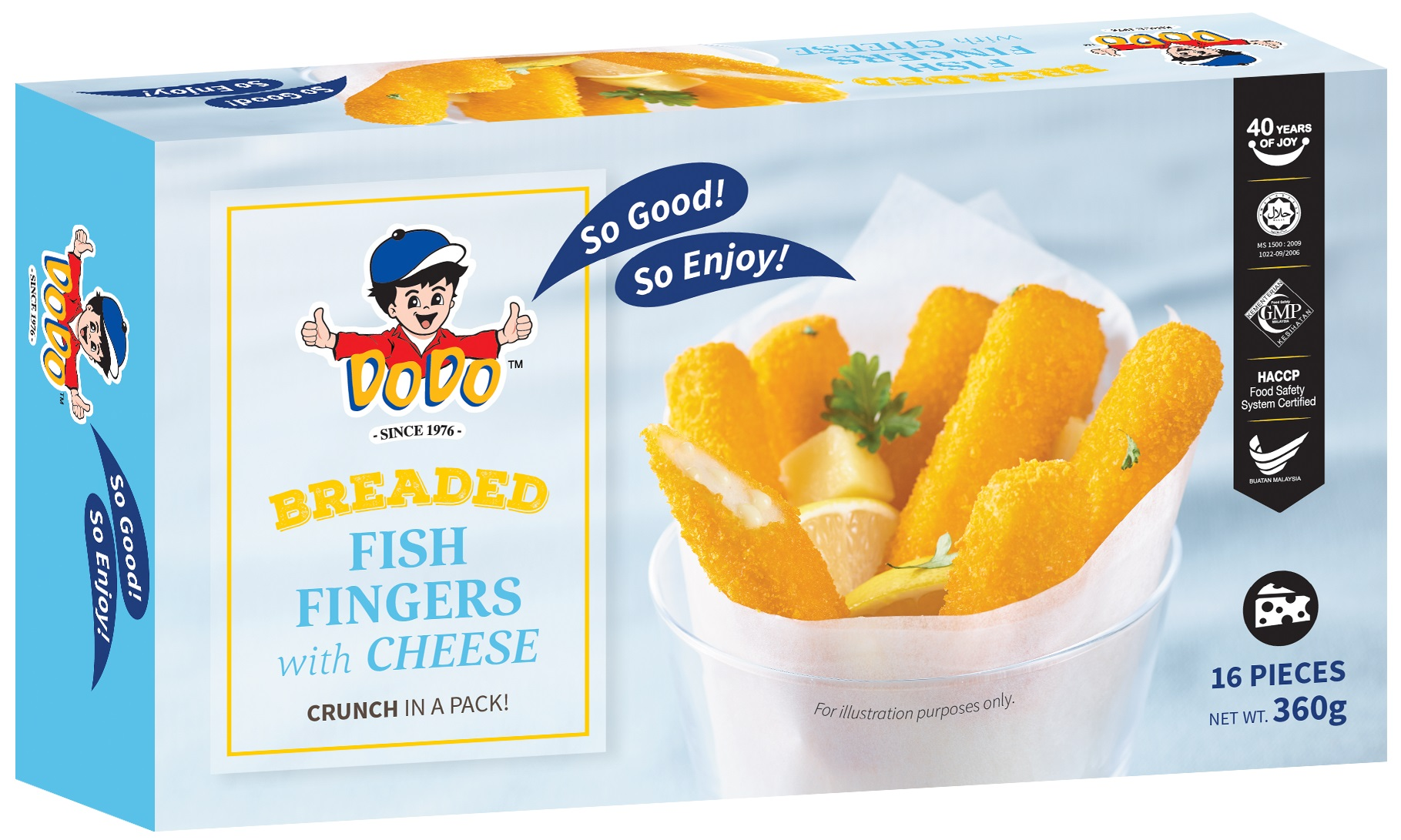 Breaded Fish Fingers with Cheese 360gm