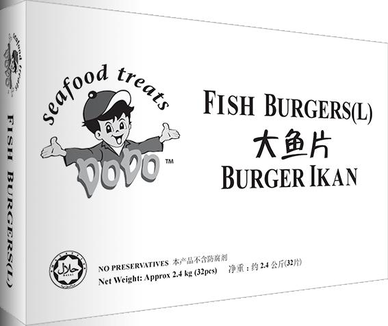 Breaded Fish Burgers (L) 2.4KG