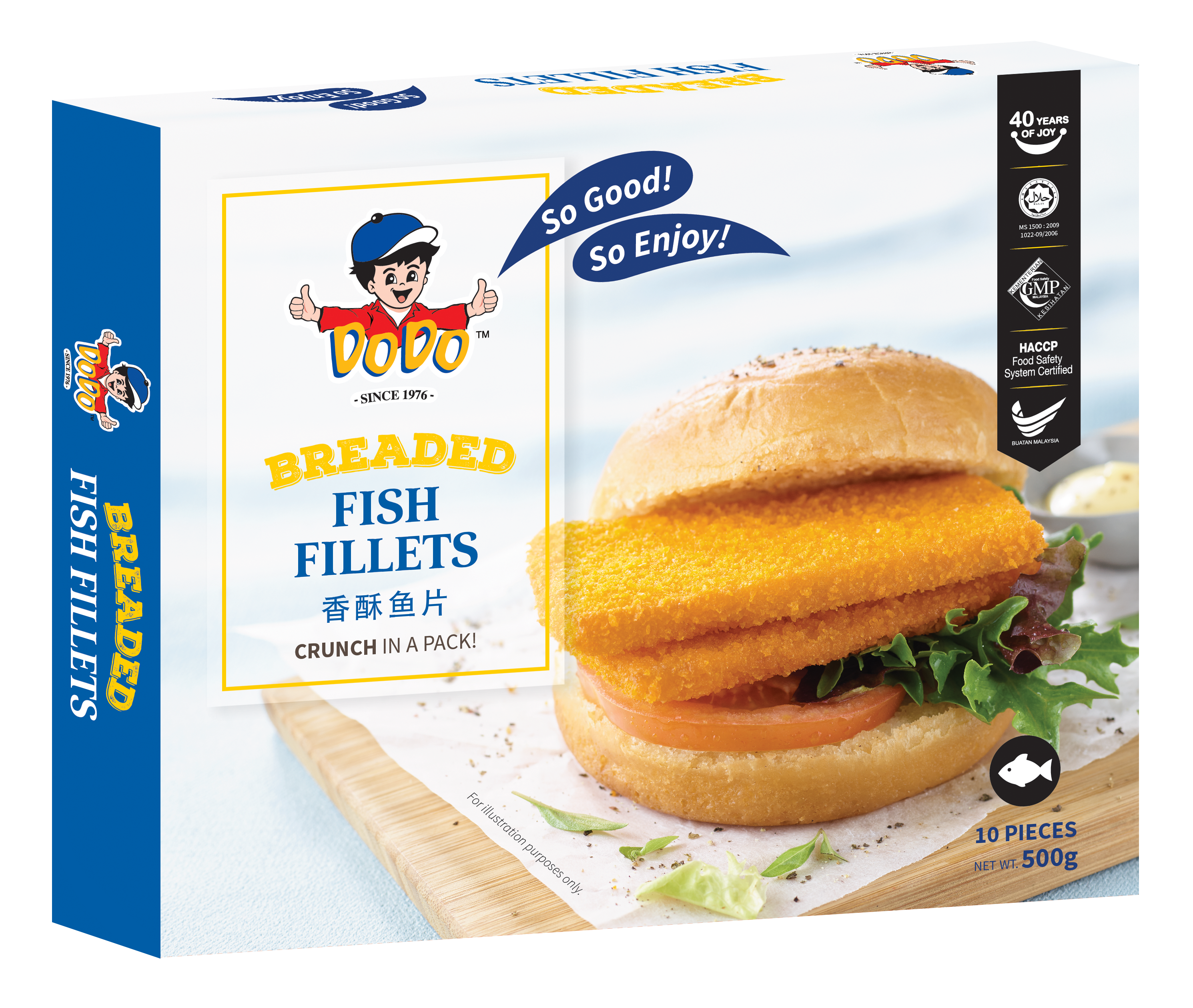 Breaded Fish Fillets 500gm