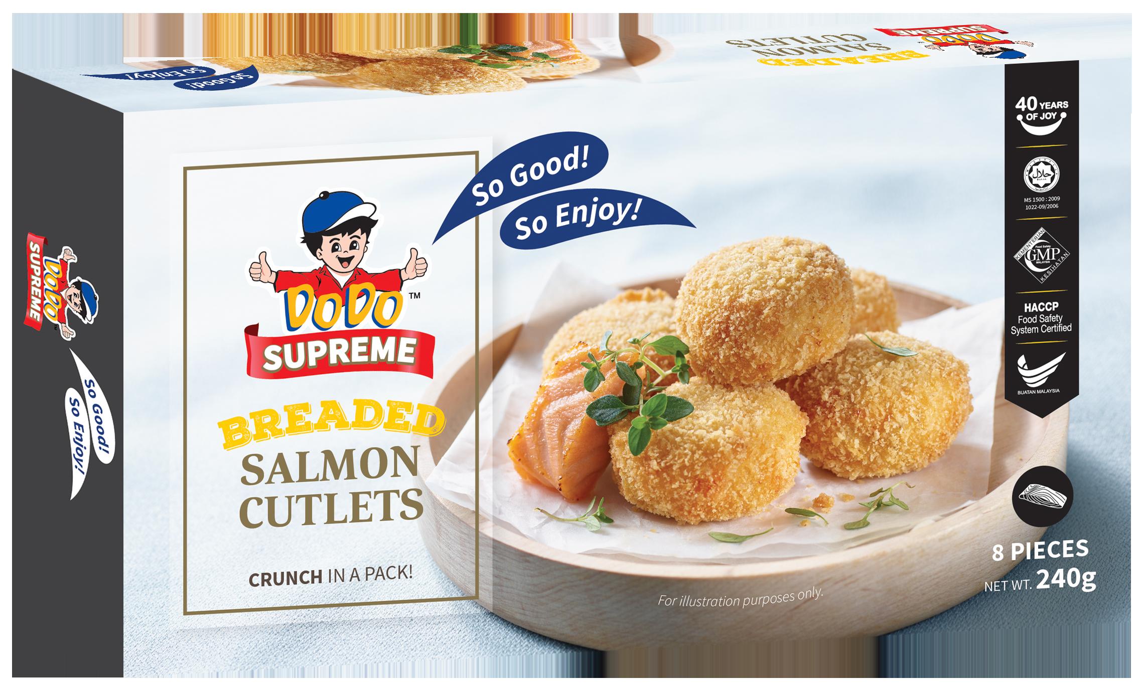 Breaded Salmon Cutlets 240gm