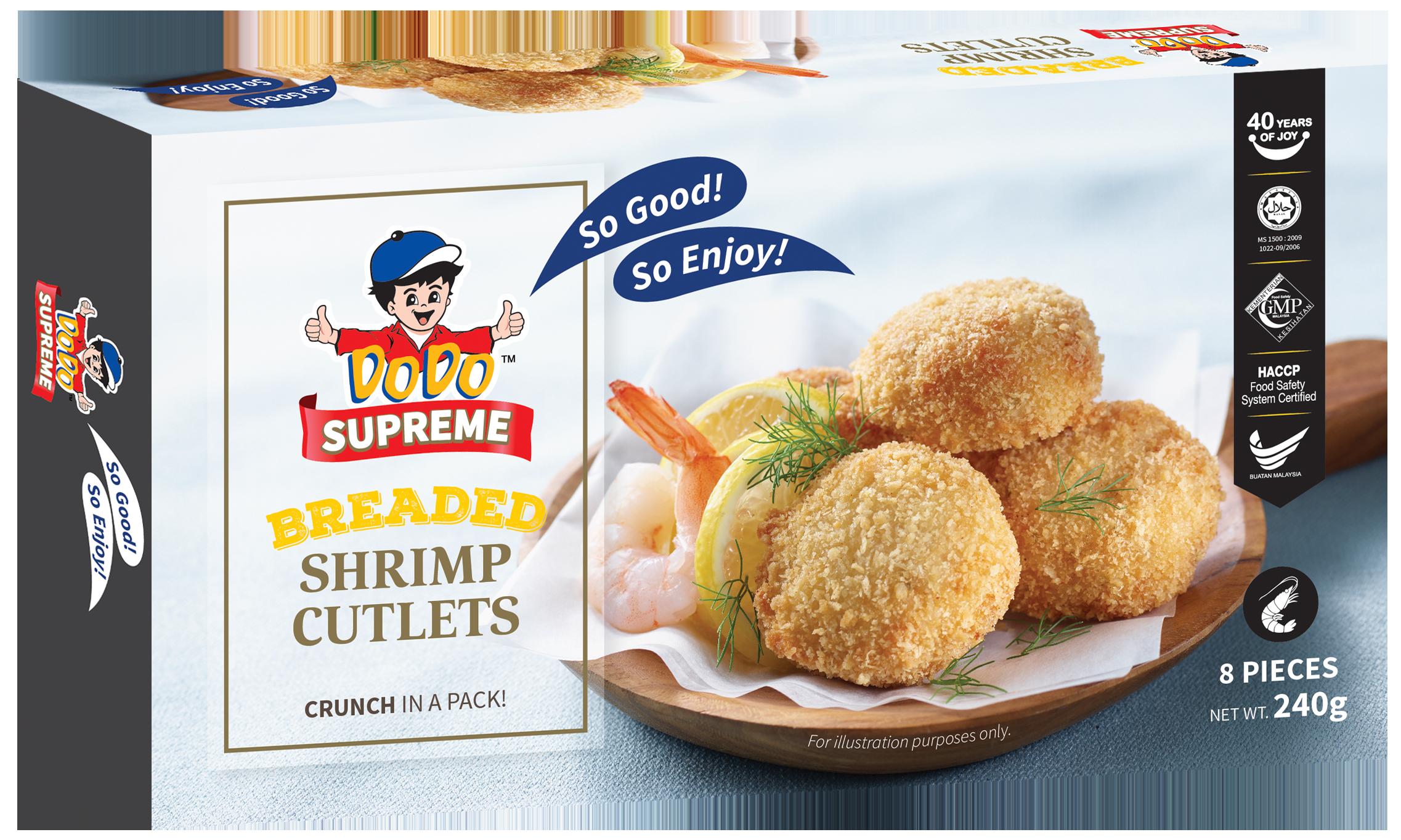 Breaded Shrimp Cutlets 240gm